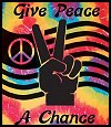 Give Peace a Chance  Tie Dye Tapestry