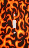 Orange Flames Decorative Switchplate Cover