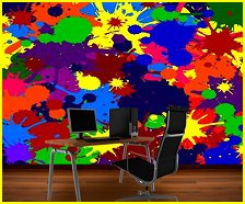 Paint Blob Cluster mural murals your way-fun wall decaorating ideas