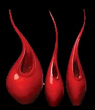 Add more excitement to a room with this glossy, lacquer finish vase. It has a dynamic, flame inspired form which generates conversation. Neon red lacquer finish. Sealed to hold water.