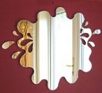 Splashes Out of Puddle Mirror-splat wall decorations