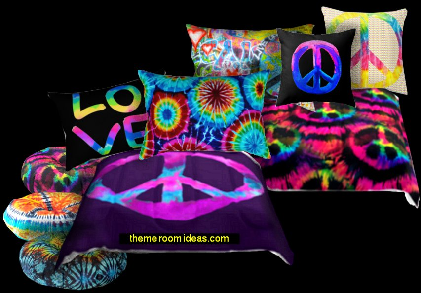 Peace Sign Bedroom Accessories: Hippie Style Decorating Ideas