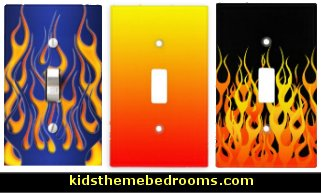 light switch covers flames theme-flames theme wall decorations